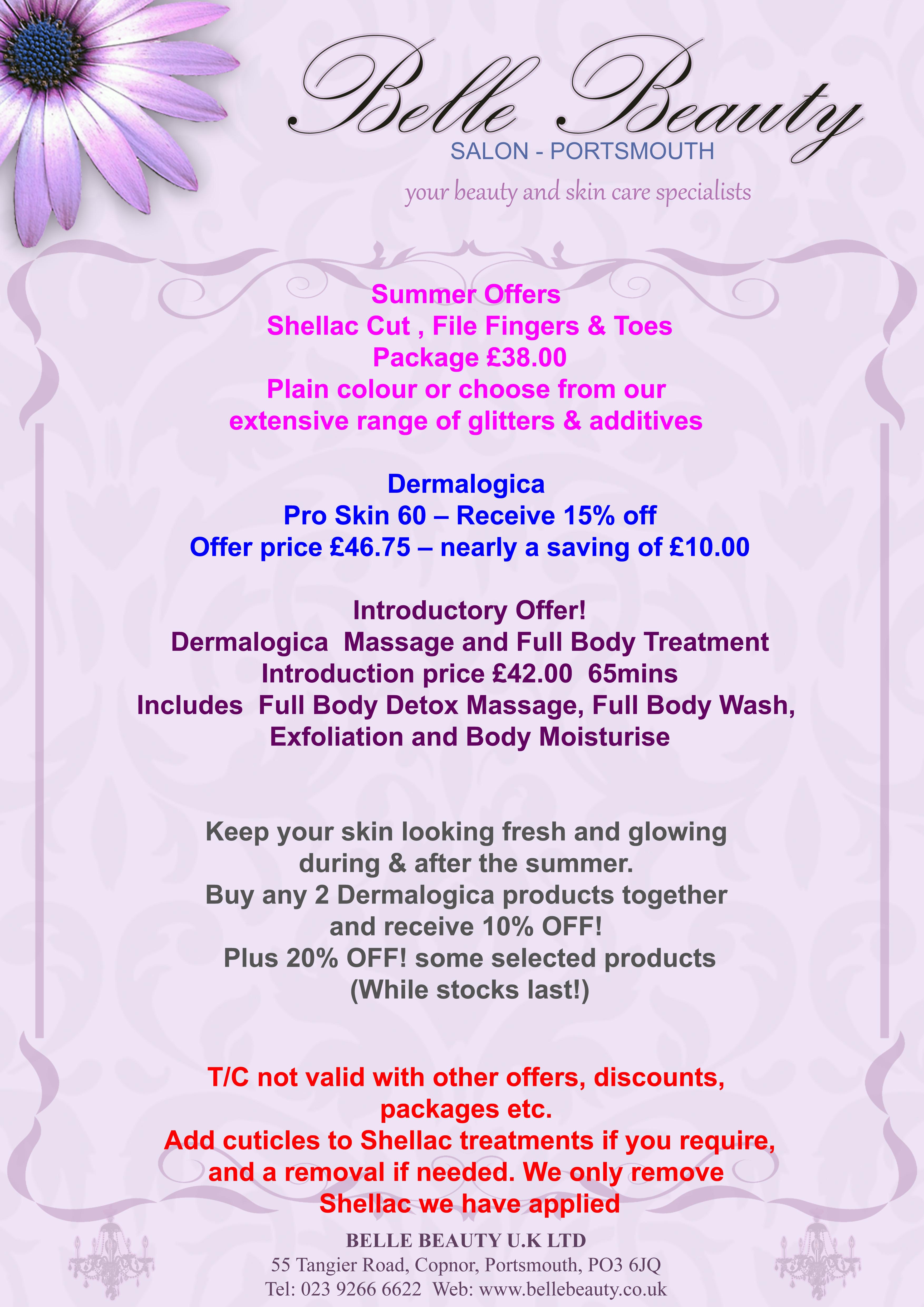 BEAUTY SALON | Belle Beauty Portsmouth, Treatments, Massage